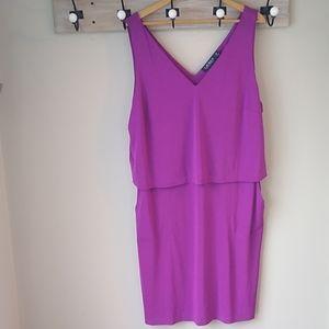 Ralph Lauren tiered purple dress 2x